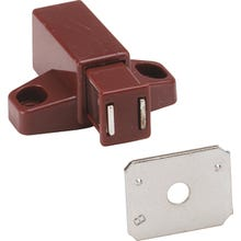 Image 2 of Amerock BP32301BR Magnetic Catch, 1-11/16 in L x 2 in W Catches, Acetal/Steel, Brown