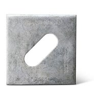 BPS 3 in. x 3 in. Hot-Dip Galvanized Slotted Bearing Plate with 5/8 in. Bolt Dia. (BPS 5/8-3HDG)