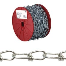 Image 2 of Campbell 0722027 Loop Chain, 255 lb Working Load Limit, #2/0, Low Carbon Steel, Zinc