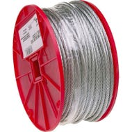 Image 1 of Campbell 7000227 Aircraft Cable, 96 lb Working Load Limit, 500 ft L, 1/16 in Dia, Galvanized Steel