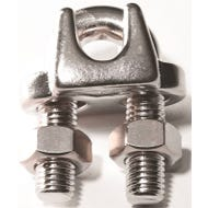 Image 1 of BARON 260S-3/16 Wire Rope Clip, 3/16 in Opening, Stainless Steel