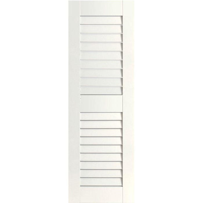 Clear Primed Western Red Cedar Louvered Shutter (1 shutter only)