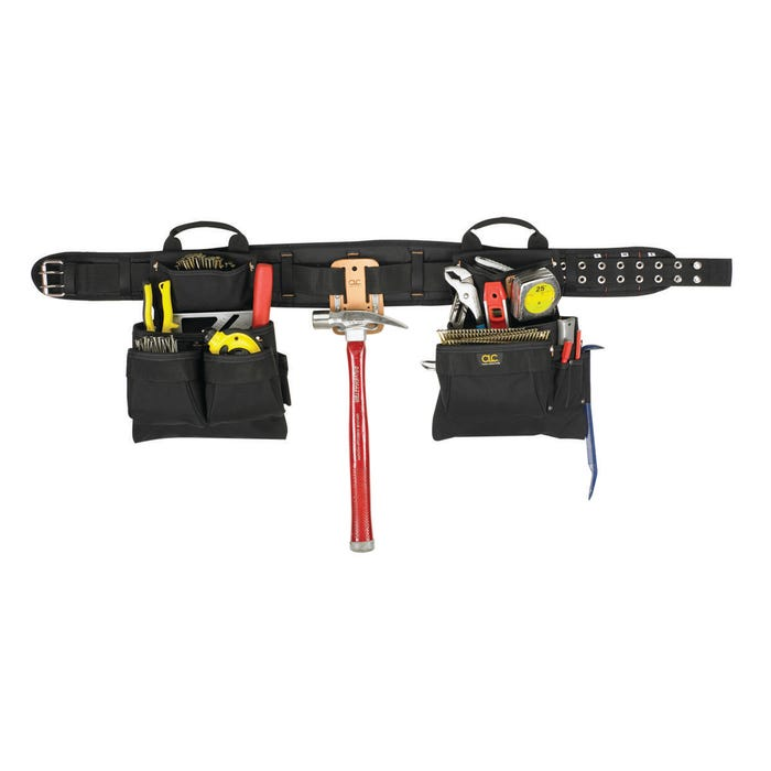 Image 2 of CLC Tool Works 5608 Tool Belt, 29 to 46 in Waist, Polyester, Black