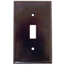Image 2 of Arrow Hart 2134B-BOX Standard-Size Wallplate, 1-Gang, Thermoset, Brown