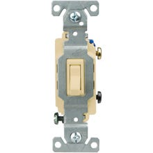 Image 2 of Eaton Wiring Devices CSB115STV-SP Toggle Switch, 120/277 V, Wall Mounting, Nylon, Ivory
