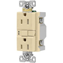 Image 2 of Eaton Wiring Devices TRSGF15V Duplex GFCI Receptacle, 15 A, 2-Pole, 5-15R, Ivory