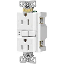 Image 2 of Eaton Wiring Devices TRSGF15W Duplex GFCI Receptacle, 15 A, 2-Pole, 5-15R, White