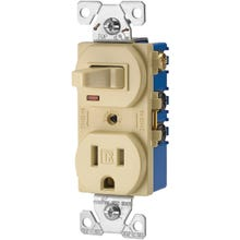 Image 2 of EATON TR274V Combination Switch, 120/125 V, 1-Pole, #14 to 12 AWG, Back, Side Wiring