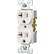 Image 2 of Eaton Wiring Devices BR20W Duplex Receptacle, 20 A, 2-Pole, 5-20R, White