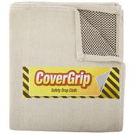 COVERGRIP SLIP RESISTANT CANVAS SAFETY DROP CLOTH 4' x 15'