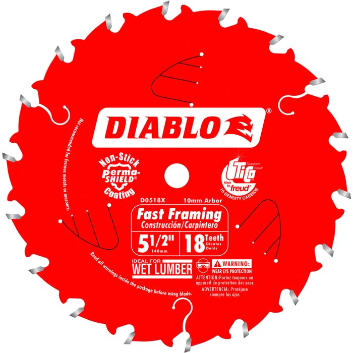 Diablo 5-1/2 in. x 18 Tooth Fast Framing Trim Saw Blade