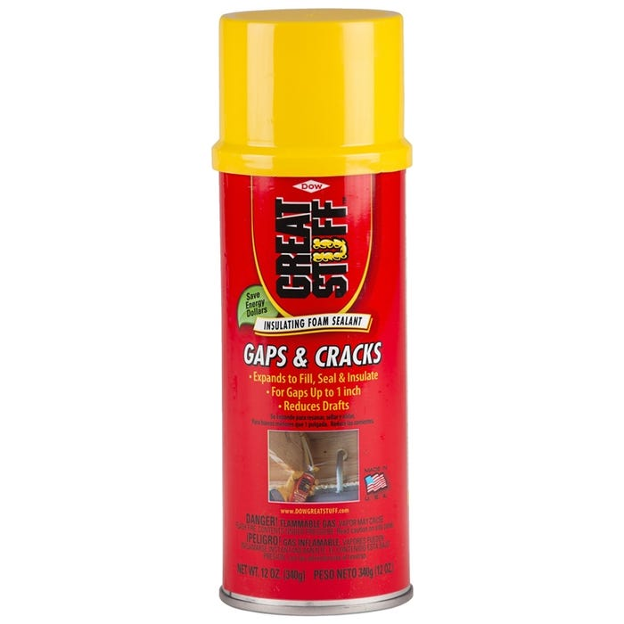 Image 1 of Dow 157901 Foam Sealant, Yellow, 12 oz Can