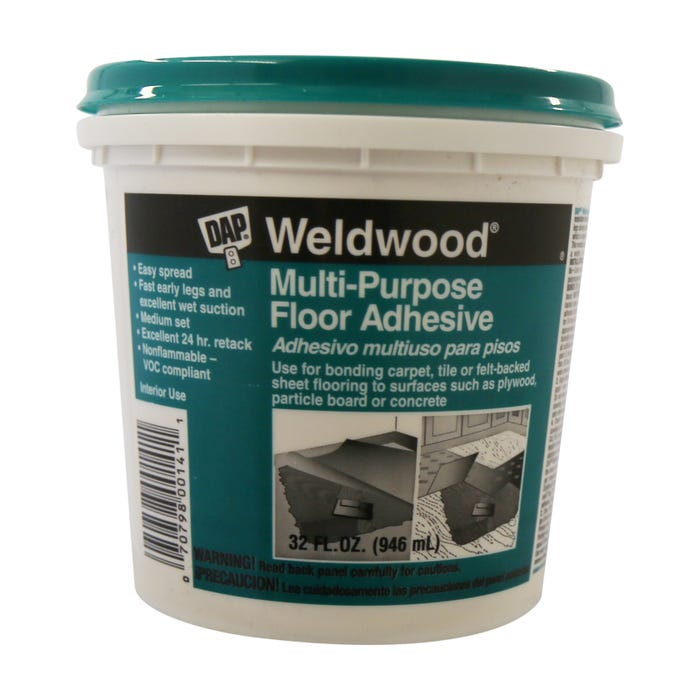 Weldwood Mulit-Purpose Floor Adhesive, Quart