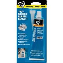 Image 1 of DAP 7079800753 Window and Door Sealant, Clear, 2.8 fl-oz Squeeze Tube
