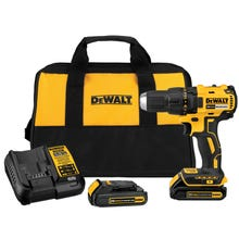 DeWALT DCD777C2 Drill/Driver Kit, 20 V Battery, Lithium-Ion Battery, 1/2 in Chuck