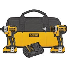 Image 2 of DeWALT DCK283D2/DCK281D2 Cordless Combo Kit, Yellow