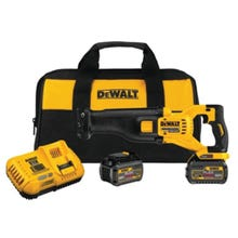 Image 2 of DeWALT DCS388T2 Reciprocating Saw Kit, 60 V Battery, Lithium-Ion Battery, 1-1/8 in L Stroke