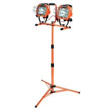 Image 2 of CCI LLED Work Light with Telescoping Tripod Stand, Halogen Lamp, 20,000 Lumens, Orange