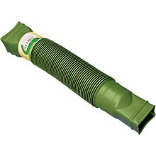 Image 1 of Amerimax Flex-A-Spout 85011 Downspout Extension, 22 to 55 in L Extended, Vinyl, Green