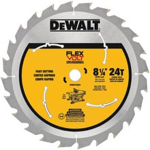 Image 2 of DeWALT DWAFV3824 Saw Blade, 8-1/4 in Dia, Carbide Cutting Edge, 5/8 in Arbor