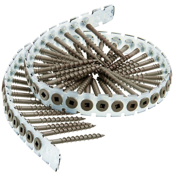 Image 1 of SENCO 08D200W Collated Deck Screw, #2 Drive, Type 17 Point, Flat Head