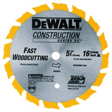 Image 2 of DeWALT DW9055 Circular Saw Blade, 5-3/8 in Dia, Carbide Cutting Edge, 10 mm Arbor, Steel