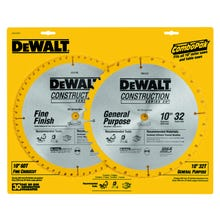 Image 2 of DeWALT DW3106P5 Saw Blade, 10 in Dia, Carbide Cutting Edge, 5/8 in Arbor, Carbide