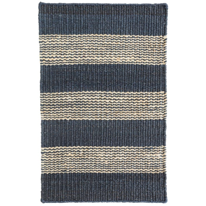 Dash & Albert Denim Ticking Woven Jute Rug