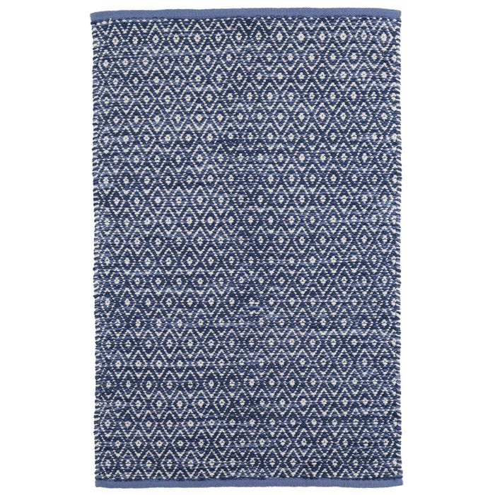 Dash & Albert Diamond Chenille  Woven Cotton Rug