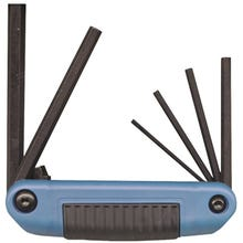 Image 1 of Eklind 25161 Fold-Up, Large Hex Key Set, Steel, Black, 6-Piece
