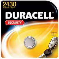 Image 2 of DURACELL DL2430BPK Coin Cell Battery, Lithium, Manganese Dioxide, CR2430 Battery, 270 mAh