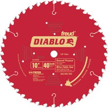 Image 2 of Diablo D1040A Circular Saw Blade, 10 in Dia, Carbide Cutting Edge, 5/8 in Arbor, Steel