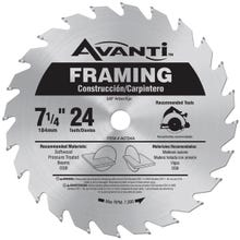 Image 1 of Diablo A0724A Circular Saw Blade, 7-1/4 in Dia, Carbide Cutting Edge, 5/8 in Arbor