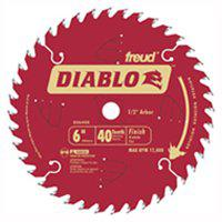 Image 1 of Diablo D0641X Circular Saw Blade, 6-1/2 in Dia, Carbide Cutting Edge, 5/8 in Arbor