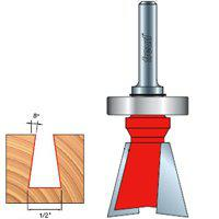 Image 1 of Freud 22-122 Router Bit, 1/4 in Dia Shank, 2-Cutter, Carbide
