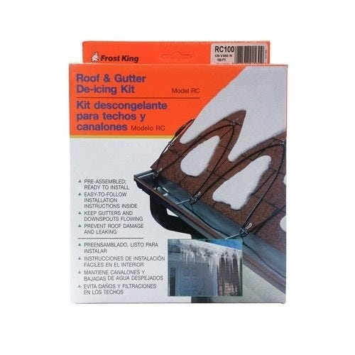 Frost King Roof & Gutter De-icing Kit, Electric, 30 ft.