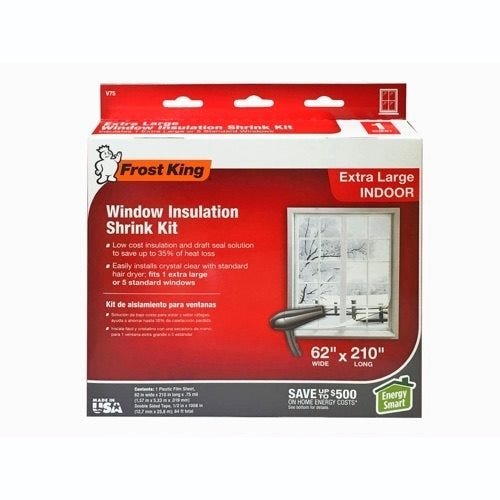 Frost King Window Insulation Shrink Kit, Indoor, Extra Large