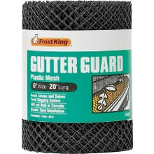 Image 2 of Frost King VX620 Gutter Guard, 20 ft L, 6 in W, Plastic, Black