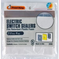 Frost King Plastic Foam Electrical Switch Sealers, 6-Pack