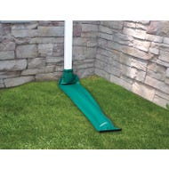 Image 3 of Frost King DE200 Downspout Extender, 8 ft L Extended, Plastic, Green