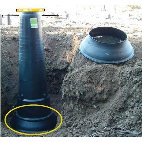 Image 1 of The Footing Tube - Footing Tube Base, 30 in.