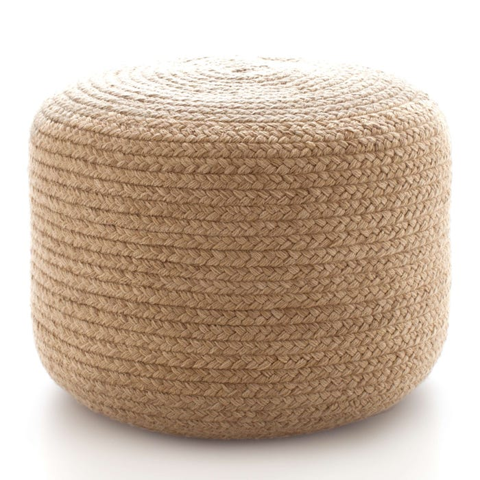 Dash & Albert Braided  Indoor/Outdoor Pouf