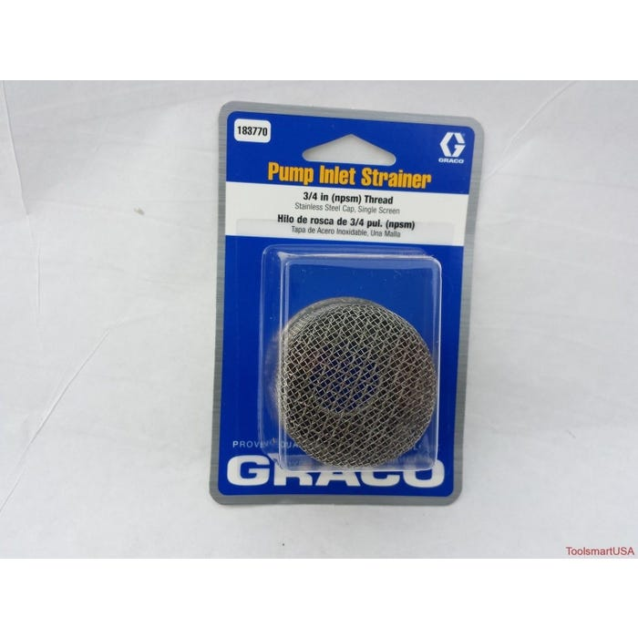 GRACO Inlet Strainer, ¾ in. Thread