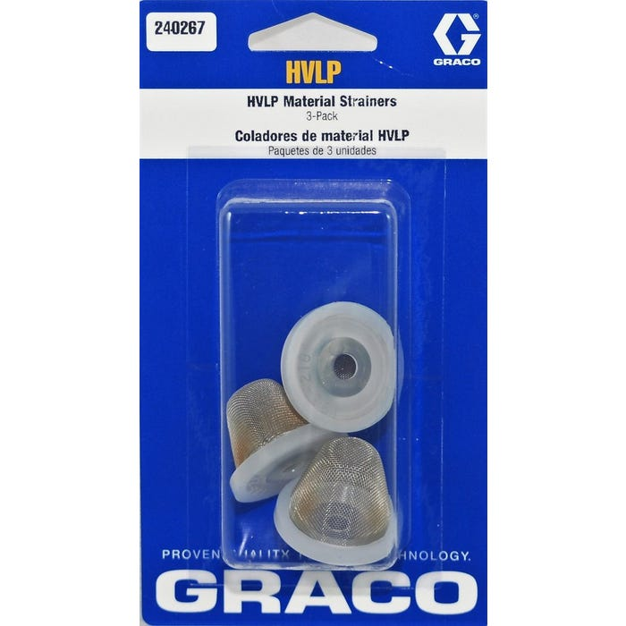 GRACO HVLP Cup Strainer, 3 Pack