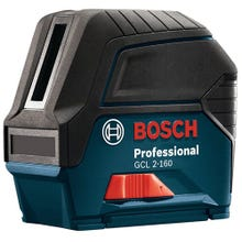 Image 1 of Bosch GCL 2-160 Cross-Line Laser with Plumb Points, 165 ft, +/-1/8 in at 33 ft Accuracy