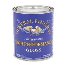 Image 1 of General Finishes High Performance Polyurethane Water-based Topcoat, Gloss, Pint