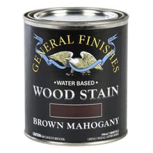 Image 3 of General Finishes Water-Based Wood Stain, Brown Mahogany, Quart
