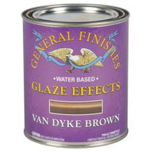 Image 2 of General Finishes Water-Based Glaze Effects, Translucent , Van Dyke Brown, Quart
