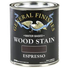 Image 3 of General Finishes Water-Based Wood Stain, Espresso, Quart