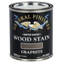 Image 3 of General Finishes Water-Based Wood Stain, Graphite, Quart